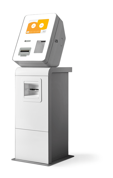 bitcoin atm machine on stand